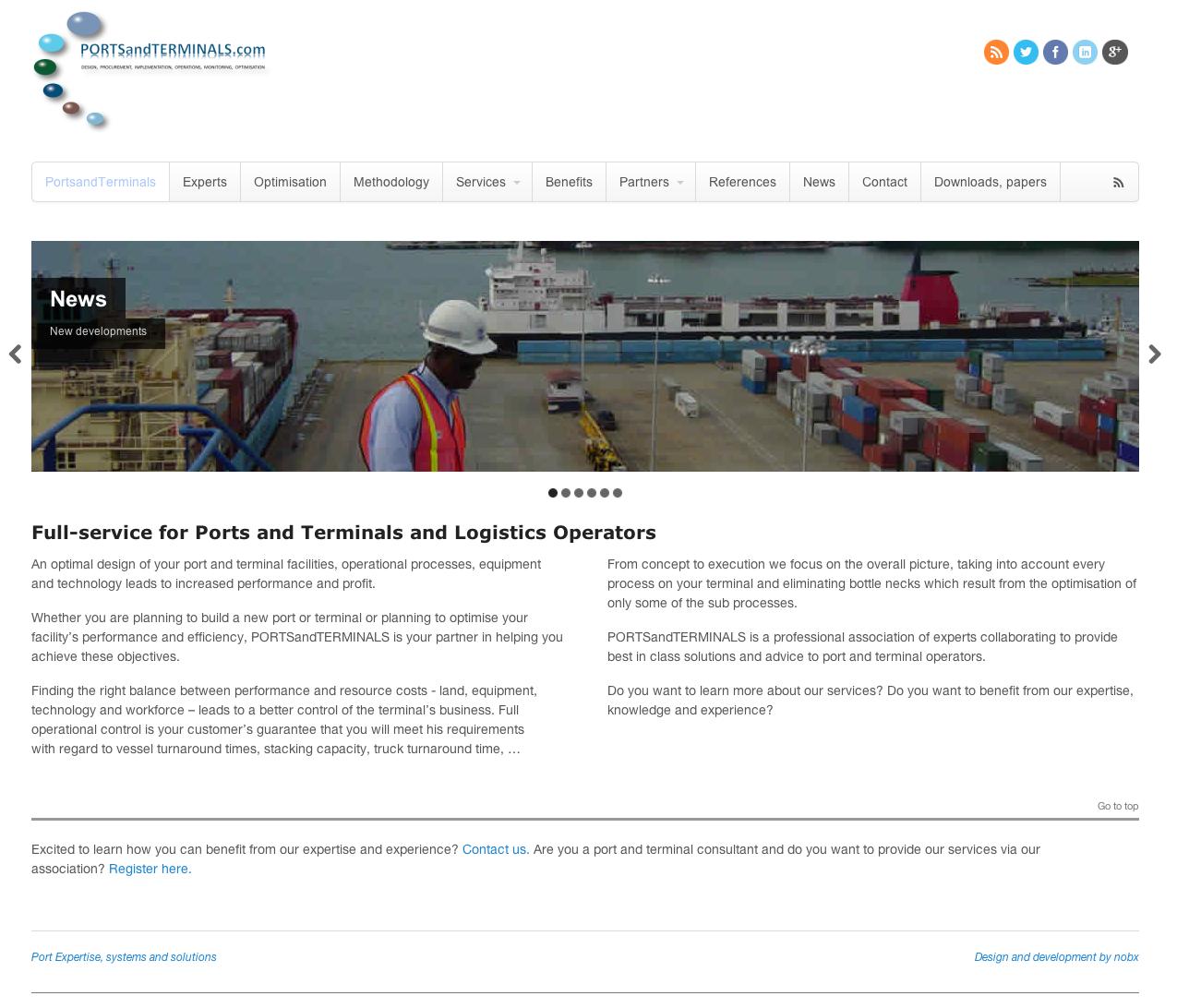 Webdesign PortsandTerminals