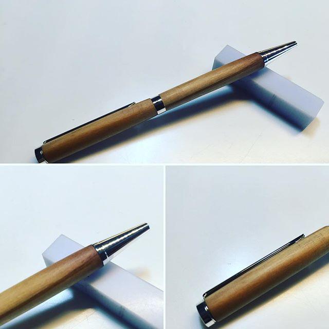 Traditional wooden pen, slim and fine #pensandart.com