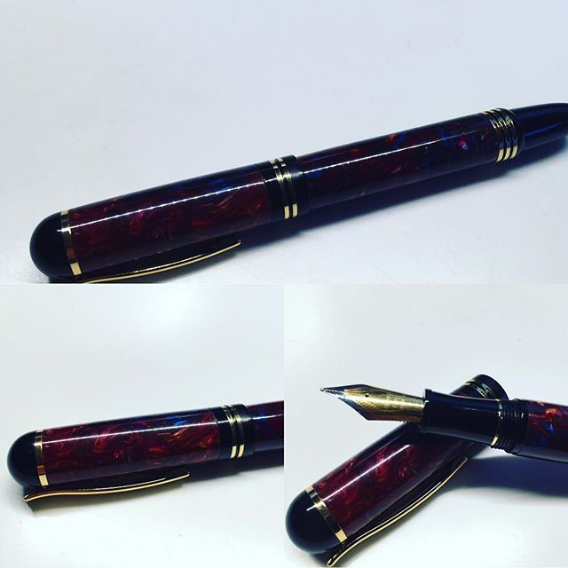 Lava like acrylic fountain pen turned out great