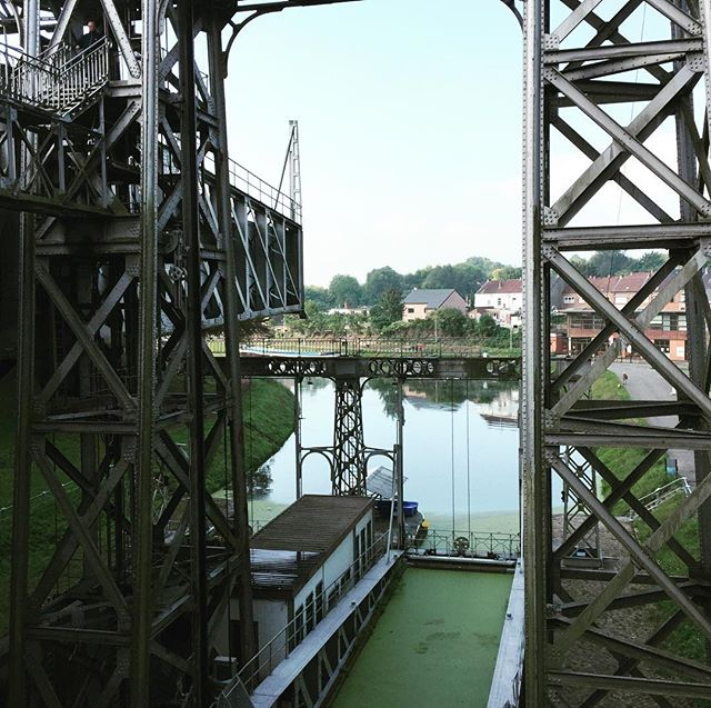 Industrial heritage: ship elevators #canalducentre in operation since 1919. A great historical walk